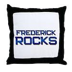 frederick rocks Throw Pillow