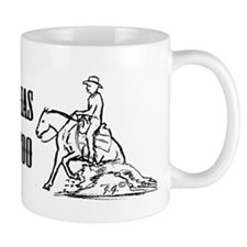 reining horse using its power Mug