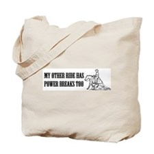 reining horse using its power Tote Bag
