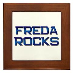 freda rocks Framed Tile