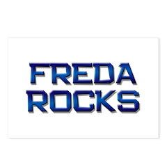 freda rocks Postcards (Package of 8)