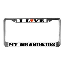 I Love My Grandkids License Plate Frame