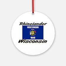 Rhinelander Wisconsin Ornament (Round)