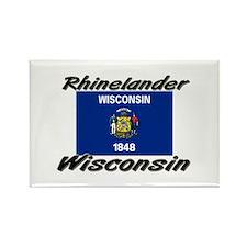 Rhinelander Wisconsin Rectangle Magnet