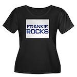 frankie rocks Women's Plus Size Scoop Neck Dark T-