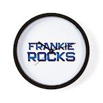 frankie rocks Wall Clock
