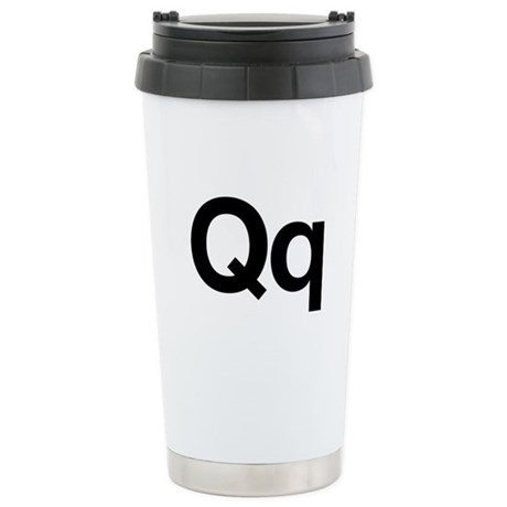 Helvetica Qq Stainless Steel Travel Mug