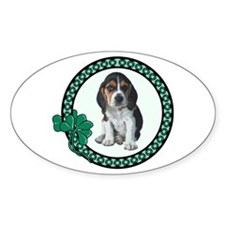 Irish Beagle Oval Decal