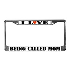 Mom Love License Plate Frame