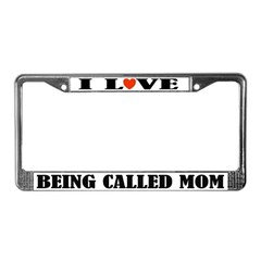 Mom Love License Plate Frame