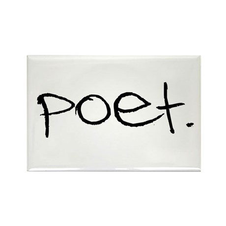 Poet Rectangle Magnet (10 pack)