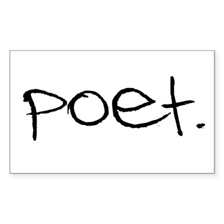Poet Rectangle Sticker