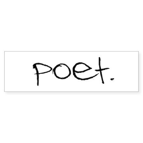 Poet Bumper Sticker