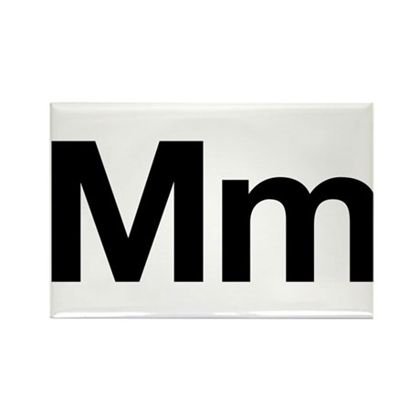 Helvetica Mm Rectangle Magnet