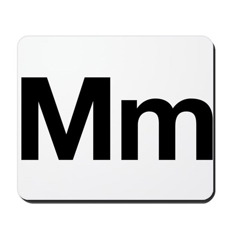 Helvetica Mm Mousepad