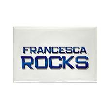 francesca rocks Rectangle Magnet
