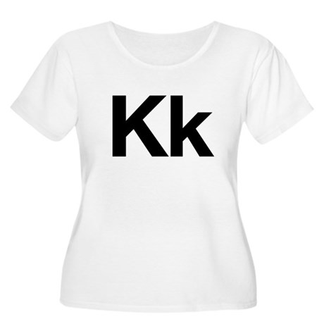 Helvetica Kk Women's Plus Size Scoop Neck T-Shirt
