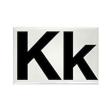 Helvetica Kk Rectangle Magnet