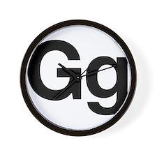 Helvetica Gg Wall Clock