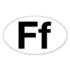 Helvetica Ff Oval Decal