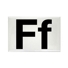 Helvetica Ff Rectangle Magnet