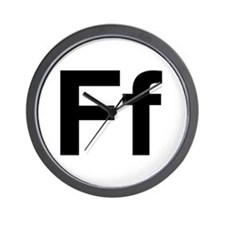 Helvetica Ff Wall Clock
