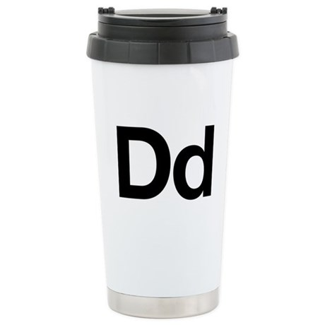 Helvetica Dd Stainless Steel Travel Mug