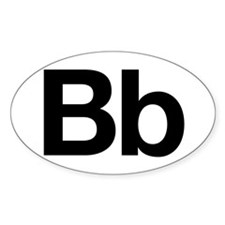 Helvetica Bb Oval Decal