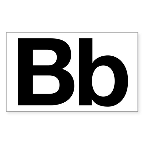 Helvetica Bb Rectangle Sticker