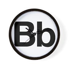 Helvetica Bb Wall Clock