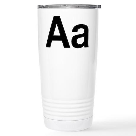 Helvetica Aa Stainless Steel Travel Mug