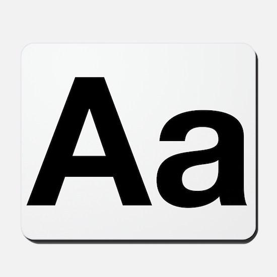 Helvetica Aa Mousepad