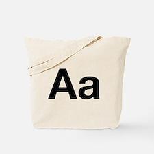 Helvetica Aa Tote Bag