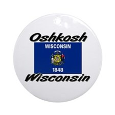 Oshkosh Wisconsin Ornament (Round)