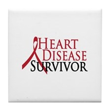 Heart Disease Survivor (2009) Tile Coaster