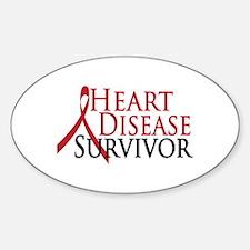 Heart Disease Survivor (2009) Oval Decal
