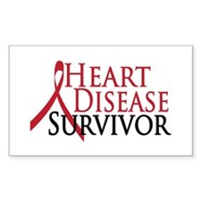 Heart Disease Survivor (2009) Rectangle Decal