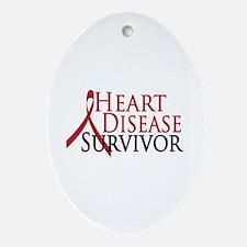 Heart Disease Survivor (2009) Oval Ornament