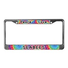 Peace Love Seabees License Plate Frame