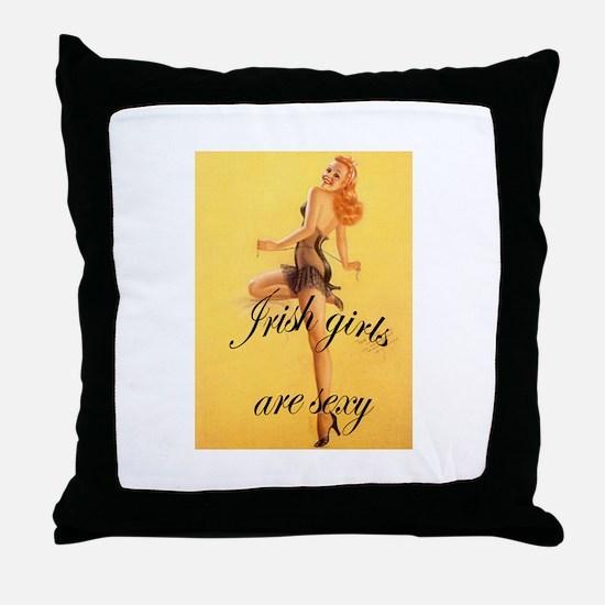 Cute Irish pins Throw Pillow