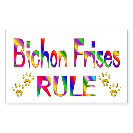 Bichon Rectangle Sticker
