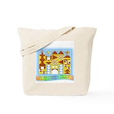 Castle Quilt Tote Bag