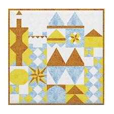 Castle Quilt Tile Coaster