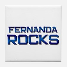 fernanda rocks Tile Coaster