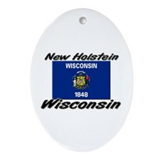 New Holstein Wisconsin Oval Ornament