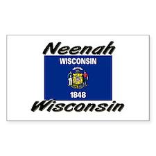 Neenah Wisconsin Rectangle Decal