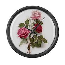 Roses Large Wall Clock