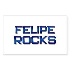 felipe rocks Rectangle Decal