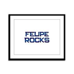 felipe rocks Framed Panel Print