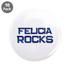 "felicia rocks 3.5"" Button (10 pack)"